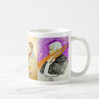 Eine musikalisch entworfene Schale Kaffeetasse