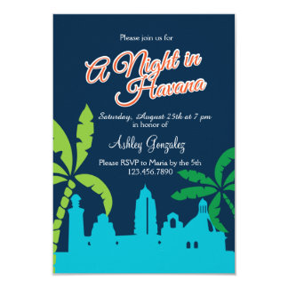 Eine Nacht in Havana 8,9 X 12,7 Cm Einladungskarte