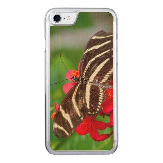 Eine Nahaufnahme, Beschaffenheits-Foto einer Zebra Carved iPhone 8/7 Hülle