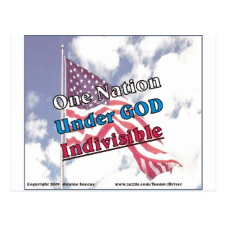 Eine Nation unter dem Gott, unteilbar Postkarte
