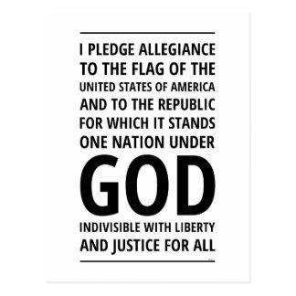 Eine Nation unter Gott Postkarte