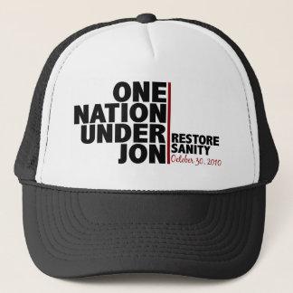 eine Nation unter jon (Stewart) Truckerkappe