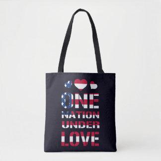 Eine Nation unter Liebe Tasche