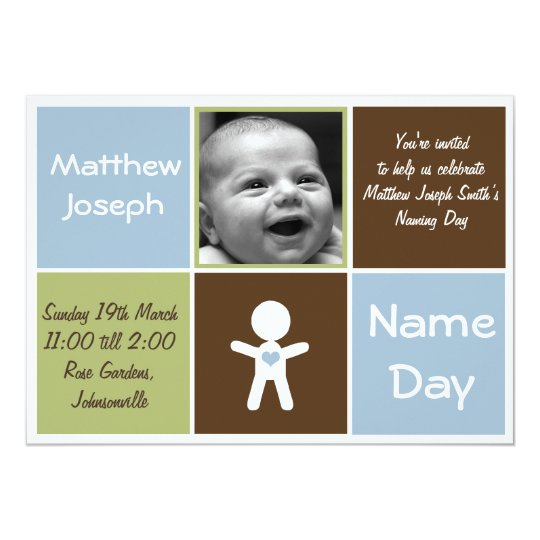 eine neue Aufgabetag-Babyeinladung des Herzens 12,7 X 17,8 Cm Einladungskarte