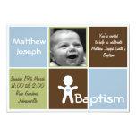 eine neue Herztaufe-Babyeinladung 12,7 X 17,8 Cm Einladungskarte