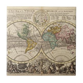 Eine neue Karte der ganzen Welt mit Keramikfliese