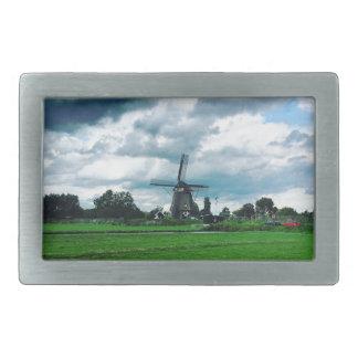 Eine niederländische Windmühle Rechteckige Gürtelschnalle