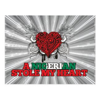 Eine nigerische Stola mein Herz Postkarte