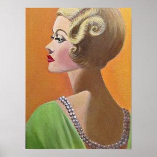 Eine noble Vintage Dame Poster