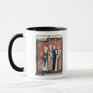 Eine Nonne, die ihr Versprechen und Masse nimmt Tasse