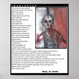 Eine Ode zum Zombie-Punk Plakat