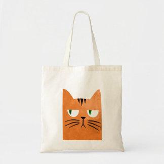 Eine orange Katze mit einer Haltung Tragetasche