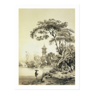 Eine Pagode auf dem Macao-Bezirk Kanal, überziehen Postkarte