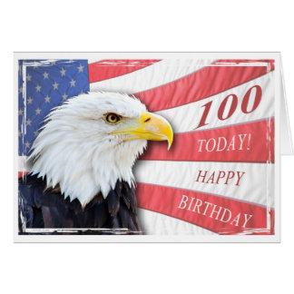 Eine patriotische 100. Geburtstagskarte Grußkarte