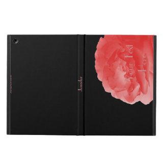 Eine perfekte korallenrote Rose, personalisiert,