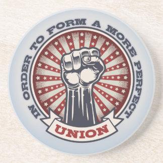 Eine perfektere Gewerkschaft Getränkeuntersetzer