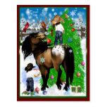 Eine Pferde-und Kinderweihnachtspostkarte Postkarten