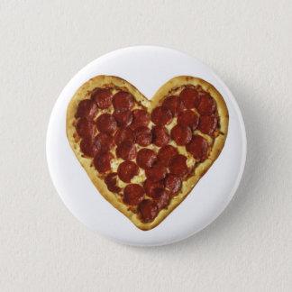 """Eine """"Pizza"""" mein Herz Runder Button 5,1 Cm"""