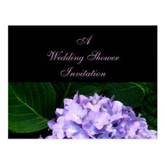 Eine Polterabend-Einladung (LavendelHydrangea) Postkarten