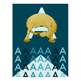 Eine Ponyflagge der dunkelblauen Karte des