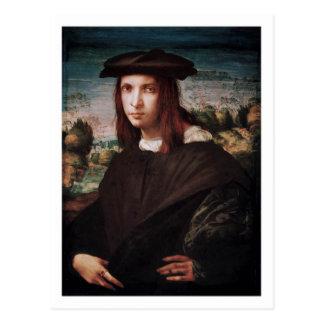 Eine Postkarte des jungen Mannes