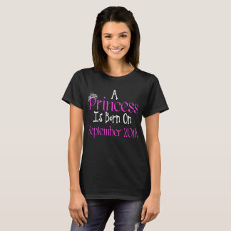 Eine Prinzessin Is Born am 20. September lustiges T-Shirt
