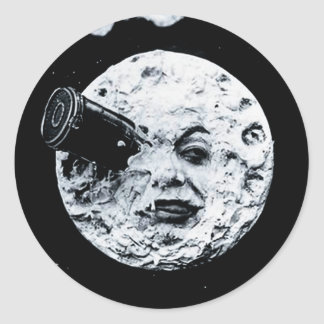 Eine Reise zum Mond Runder Aufkleber