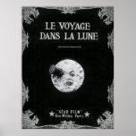 Eine Reise zum Mond oder zum Le Voyage dans La Poster