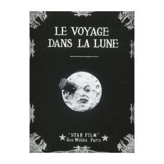 Eine Reise zum Mond-Vintagen Retro französischen Leinwanddrucke