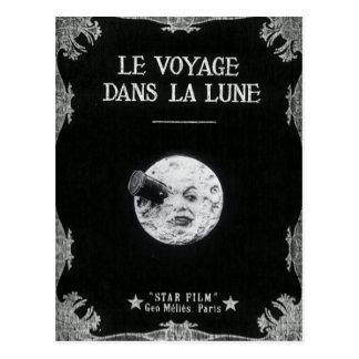 Eine Reise zum Mond-Vintagen Retro französischen Postkarten