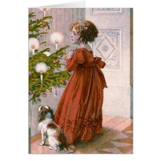 Eine reizend viktorianische Weihnachtskarte Karte