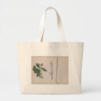 Eine Rettich-Pflanze, ein Samen und eine Blume Jumbo Stoffbeutel