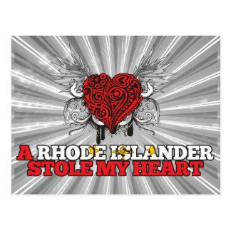 Eine Rhode Inselbewohner-Stola mein Herz Postkarte
