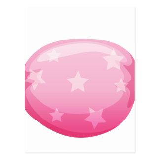 eine rosa Süßigkeit Postkarte