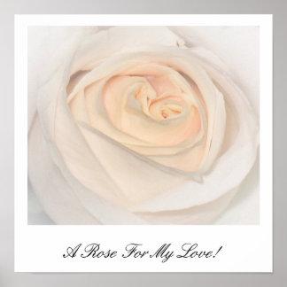 Eine Rose für meine Liebe Plakat