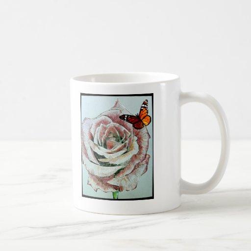 Eine Rose. Kaffee Tassen