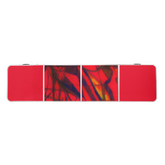 Eine rote Klingeln pong Tabelle Beer Pong Tisch