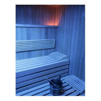 Eine Sauna im blauen Licht, Schweden Postkarte