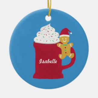 Eine Schale frohe Weihnachten Rundes Keramik Ornament