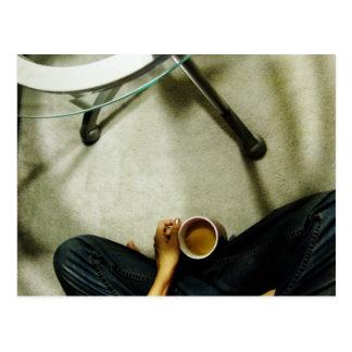 'Eine Schale tea Postkarte