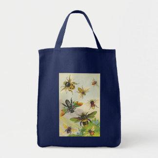 Eine Schar der schönen Bienen-Tasche Tragetasche