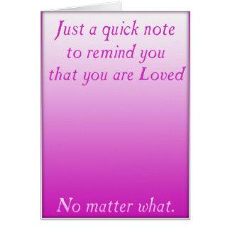 Eine schnelle Erinnerung der Liebe (Rosa) Karte