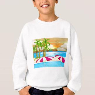 Eine schöne Ansicht des Strandes Sweatshirt