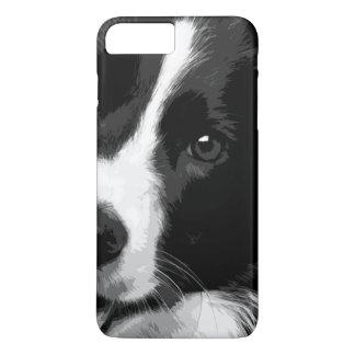 Eine Schwarzweiss-Border-Collie iPhone 8 Plus/7 Plus Hülle