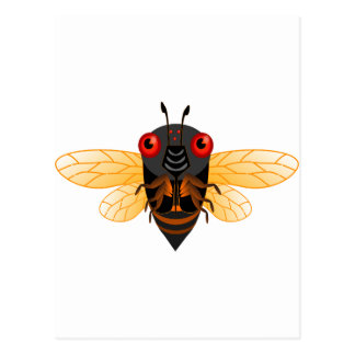 Eine sehr niedliche 17-Jahr-Zikade Postkarte