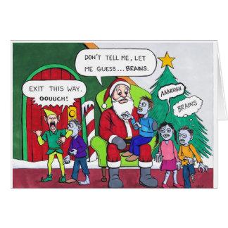 Eine sehr Zombie-Weihnachtskarte Karte