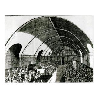 Eine Sitzung des Jacobin Vereins, 1791 Postkarte