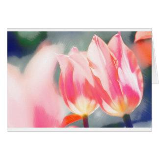 Eine Skizze des Tulipa-Duos Grußkarte