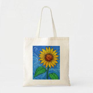 Eine Sonnenblume-Budget-Tasche