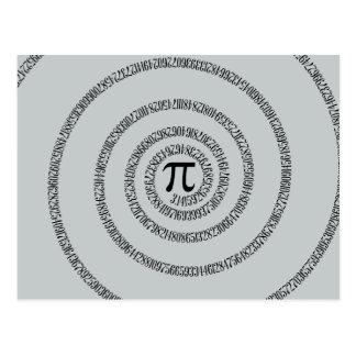 Eine Spirale auf PU-Klicken fertigen Postkarte